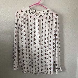 LOFT Outlet lightning bug print blouse